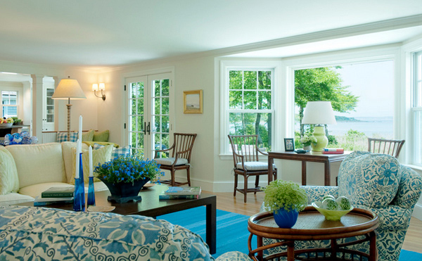 15 Lovely Living Room Designs With Blue Accents