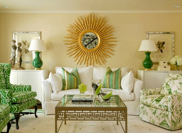 20 Refreshing Green Themed Living Rooms Home Design Lover