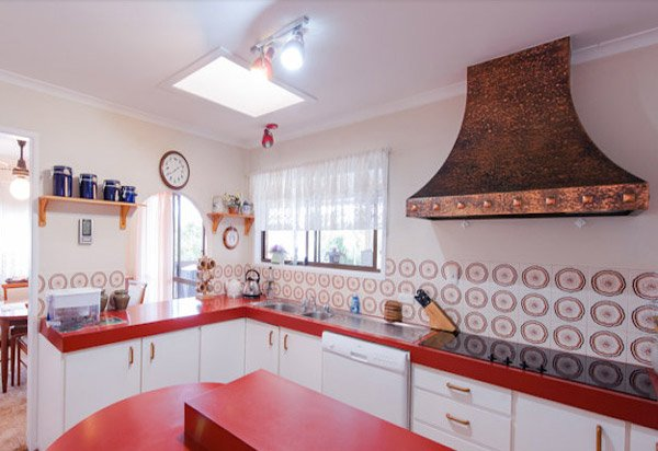 Kitchen Design Red Tiles 15 unique kitchen tile designs | home design lover