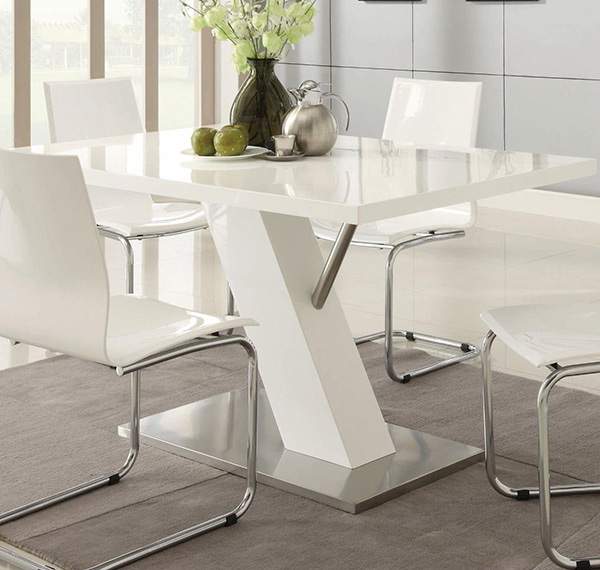 Mix Match Kitchen Chairs: Refreshingly Neat 15 White Dining Sets