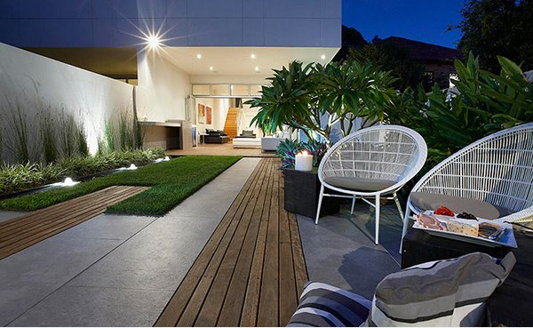 contemporary courtyard gardens