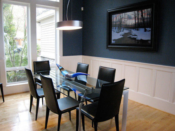 Ordinaire Contemporary Blue Dining Room