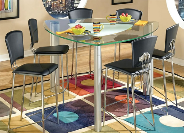 Counter Height Dining Set With Triangular Table Top. Email; Save Photo.  Modern Designed Counter