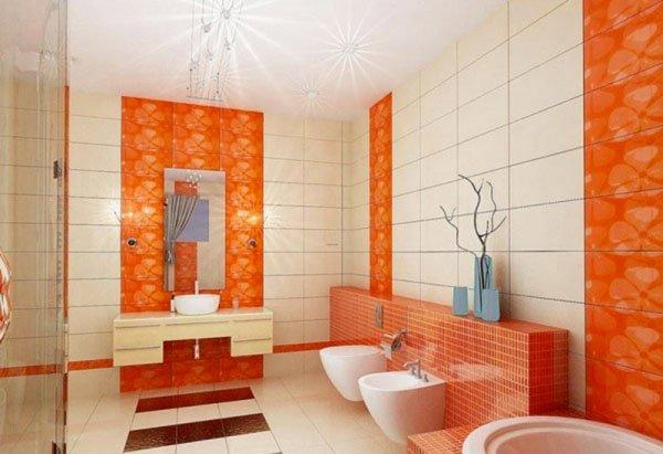 orange Bath Tiles