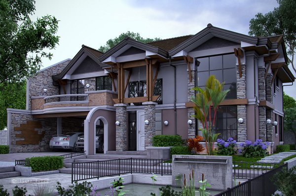 Striking collection of 15 houses with terrace home for Amazing house plans with pictures