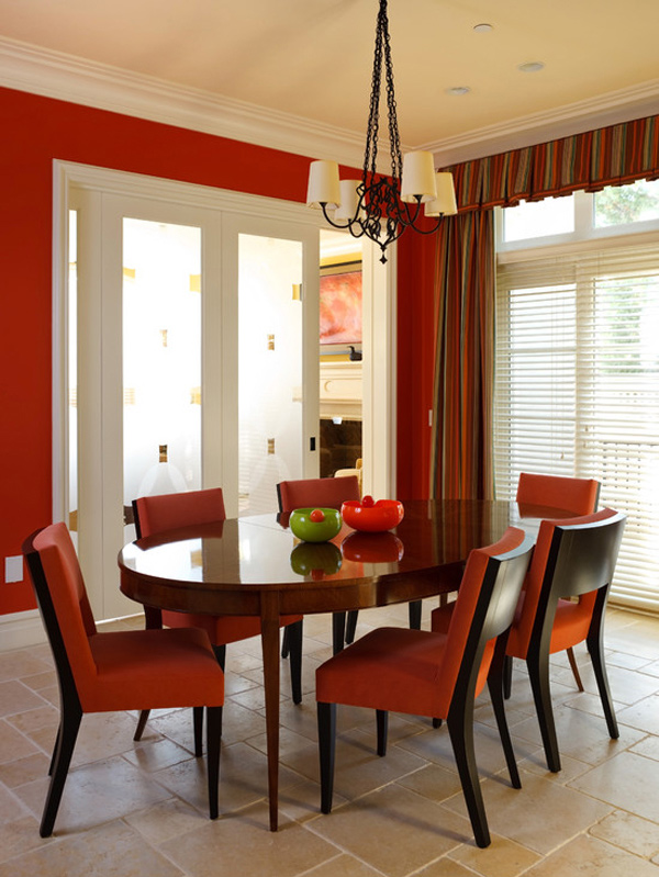 Contemporary Red Dining Room. Email; Save Photo. Homie Nice