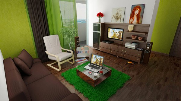 Living Room Decorating Ideas Green And Brown 20 refreshing green-themed living rooms | home design lover