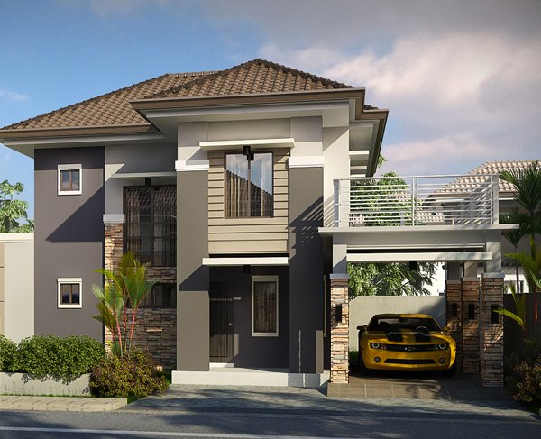 Striking collection of 15 houses with terrace home for Simple bungalow house design with terrace