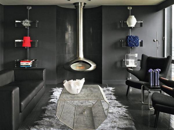 black living rooms