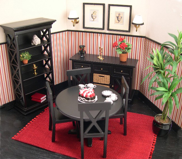 Red Dining Room Ideas Part - 40: Red Stripe Black Dining Room. Email; Save Photo. Stripe Black
