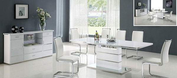 Refreshingly Neat 15 White Dining Sets Home Design Lover : 15 white modern dining set from homedesignlover.com size 600 x 300 jpeg 55kB