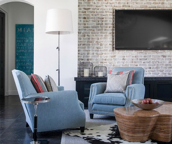 Living Room Email Save Photo Brick Accent Walls