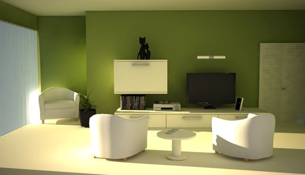 Green Living Room Email Save Photo White Furniture NGO Design