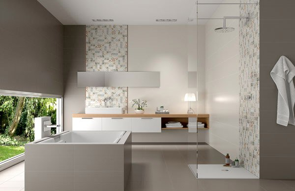Gray modern bathroom