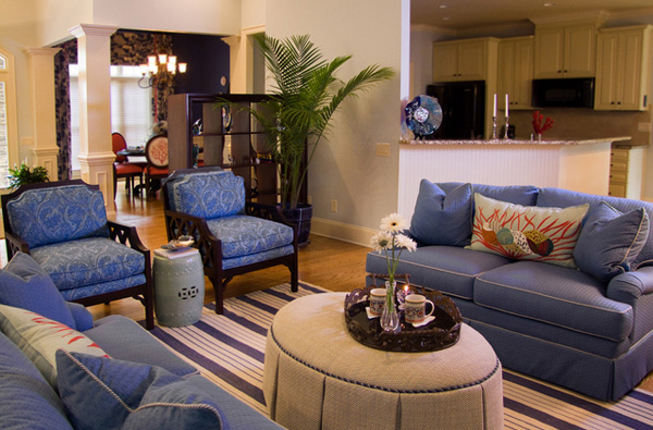 15 Lovely Living Room Designs With Blue Accents Home