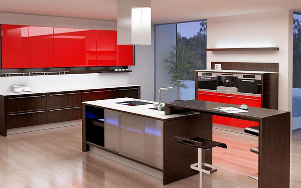 Elevated Nook Island. Kitchen Design Images