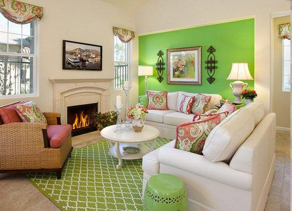 20 Refreshing Green-Themed Living Rooms | Home Design Lover