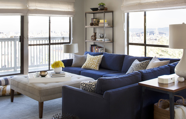 Grey Living Room With Blue Accents 15 lovely living room designs with blue accents | home design lover