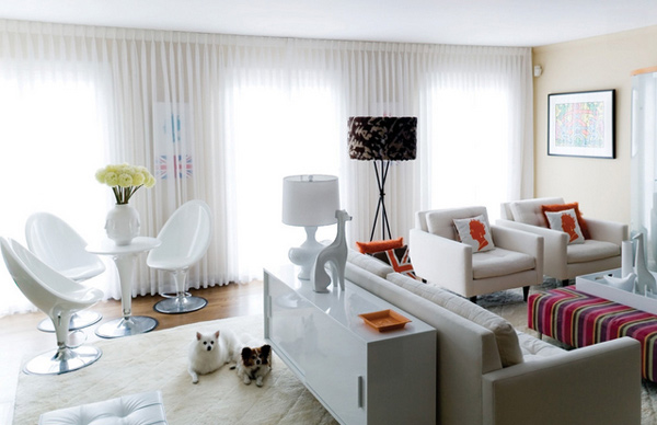 one room living 15 lovely white themed living rooms home design lover 10479