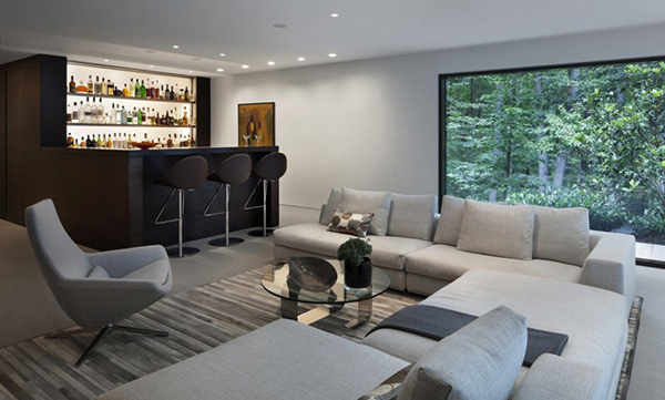 New Canaan Residence: A Modern Home in Nature\'s Nest | Home Design ...