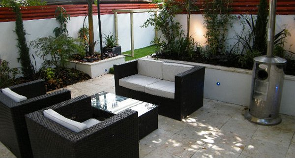 black modern outdoor furnitures