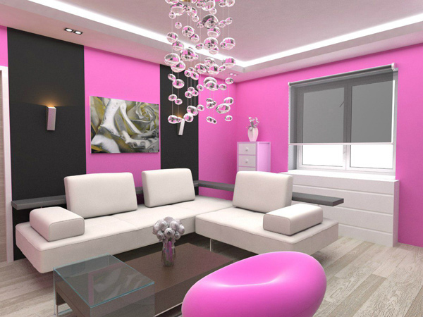 15 Pretty in Pink Living Room Designs | Home Design Lover