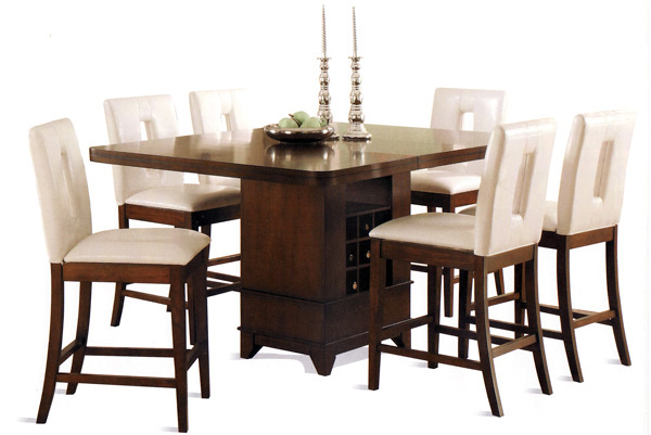 pc table cappuccino height solid wood dining counter marley
