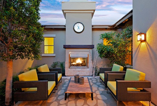 closed outdoor living area