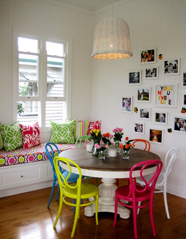 A Burst Of Colors From 20 Dining Sets With Multi Colored Chairs Home Design Lover