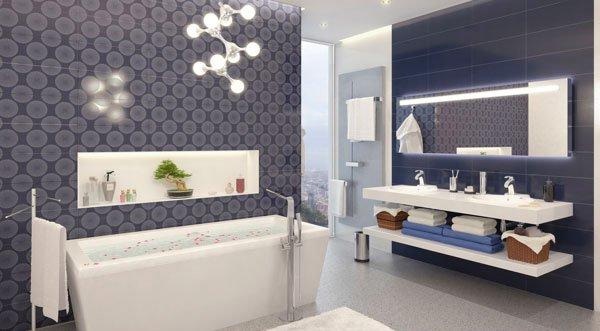 pattern tiles bath