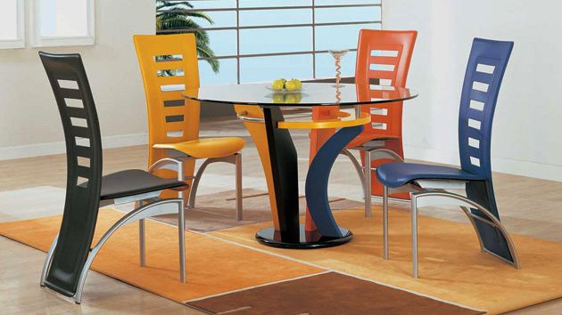 Charmant A Burst Of Colors From 20 Dining Sets With Multi Colored Chairs | Home  Design Lover