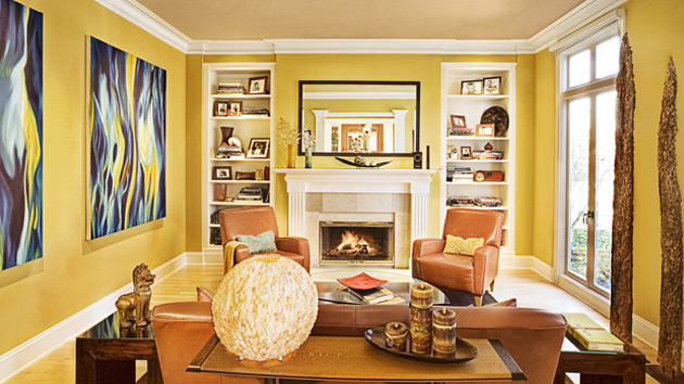 15 fab living room designs with yellow accent home for Yellow living room ideas