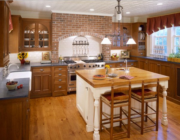 brick kitchen designs