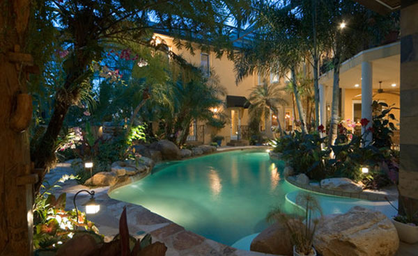 Backyard Pool Designs RECTANGLE POOL DESIGNS TROPICAL WITH BACKYARD ...
