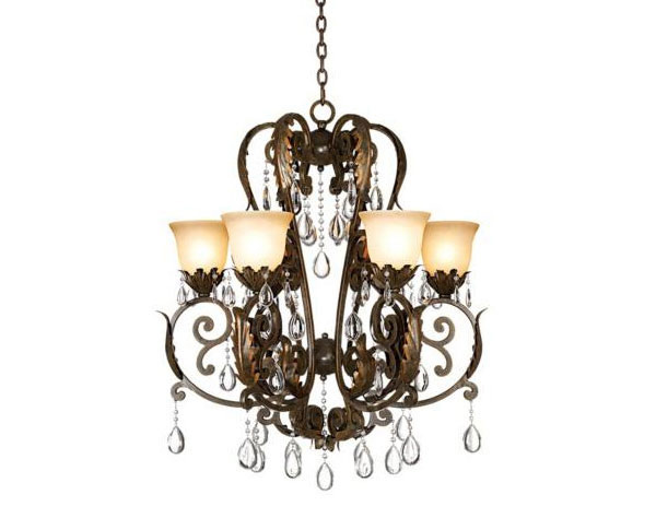Valentina Iron Leaf Collection 6-Light Chandelier