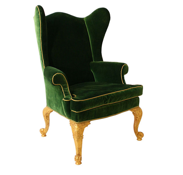 luxury chair - 15 Antique Wingback Chairs In Plain Colors Home Design Lover
