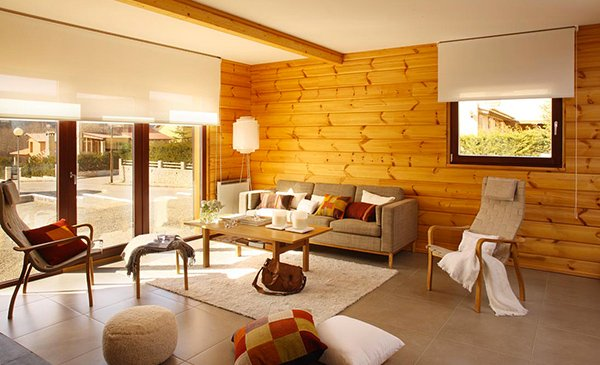 Wooden Panel Walls in 15 Living Room Designs | Home Design Lover