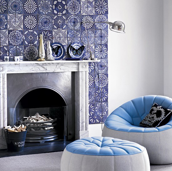 Living Room With Modern Tiles Email Save Photo Artisan