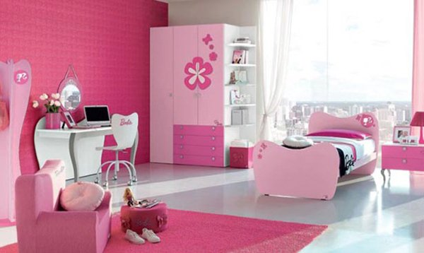 Barbie inspired bedroom
