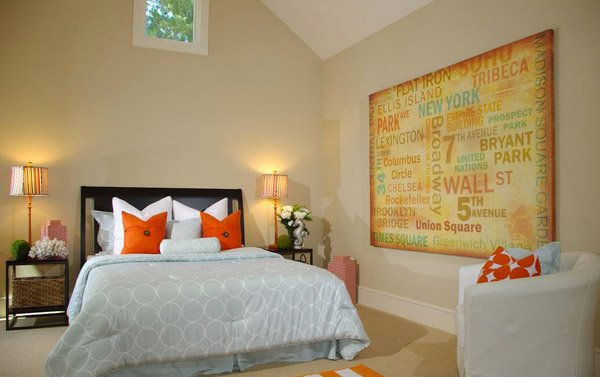 Organic Orange Contemporary with Whimsical Pops