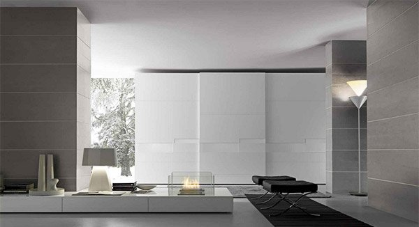 glossy lacquered panels