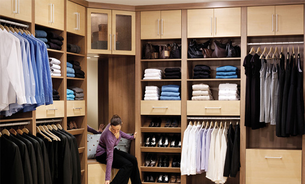 contemporary Walk In Closet