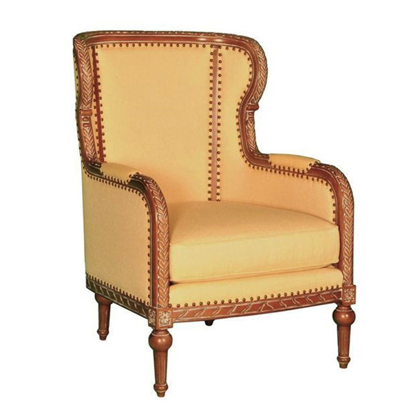 Vintage Wingback Chair. Email; Save Photo. vintage design - 15 Antique Wingback Chairs In Plain Colors Home Design Lover