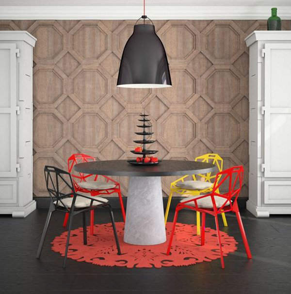 Geometrical-Inspired Dining Room