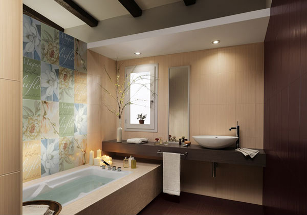 wall art bathtub