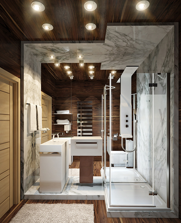 wooden bathroom design