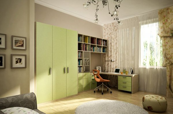 bedroom with storages