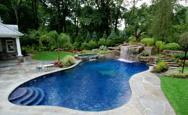 waterfall features - Backyard Pool Design