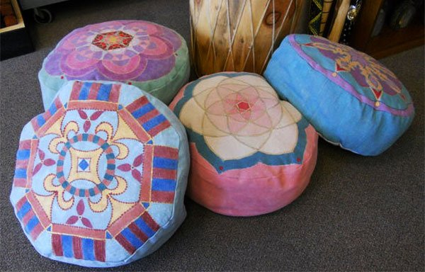 Round Pouf Seats