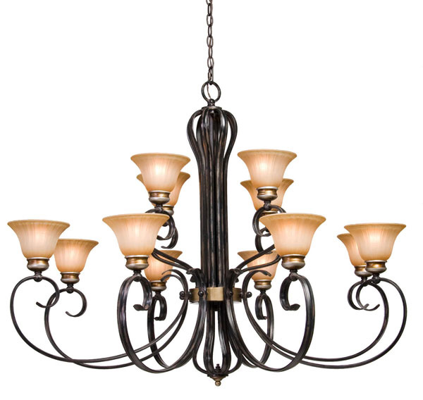 Canterbury 12 Light 2 Tier Chandelier